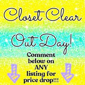 Closet Clear Out Day Price Drop Discount Shipping